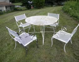 Salterini Iron Patio Furniture russell woodard etsy