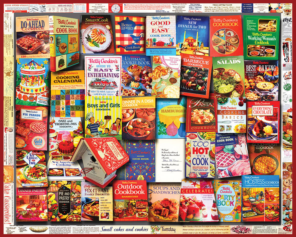 White Mountain Puzzles Betty Crocker Cookbooks - 1000 Piece Jigsaw Puzzle