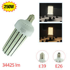ul 250 watt led corn cob bulb lights 30000lm mogul base replace