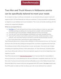 100 Two Men And A Truck Locations Two Men And A Truck Movers In Melbourne By Teamremovals1 Issuu