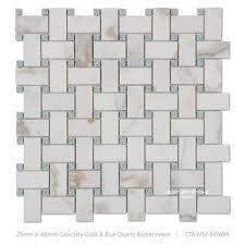 calucatta marble basketweave mosaic floor tile pattern adhesive