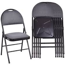 Costway: Costway Set Of 6 Folding Chairs Fabric Upholstered Padded ... Fabric Padded Seatmolded Fan Back Folding Chair By Cosco 4400 Portable Chairs For Any Venue Clarin Seating The 7 Best Chairs Of 2019 White Resin Lel1whitegg Bizchaircom Wood Xf2901whwoodgg Foldingchairs4lesscom National Public 3200 Series Xl 2inch Vinyl 2 Taller Quad Black Lel1blackgg Deluxe Seat Flash Fniture Plastic With 21 Beach