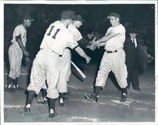 1952 Toledo Mud Hens Baseball Player Babe Barna Hits Home Run