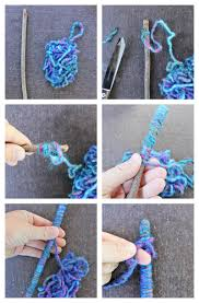 Easy Crafts For Kids Yarn Sticks Make Them As A Standalone Craft Or