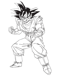 Goku Coloring Pages Dragon Ball Z