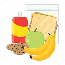 Lunch Vector Illustration Break Concept Time Design Sandwich Soda And An Apple Icon In Flat Style School Kids Image