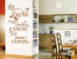 spruch wandtattoo in unserer küche kann vom