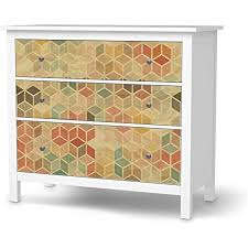 creatisto möbel klebefolie passend für ikea hemnes kommode 3 schubladen i möbelsticker möbel aufkleber folie i wohndeko für wohnzimmer und