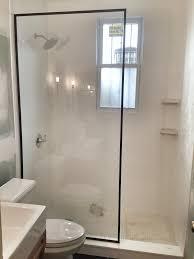 Splash Guard For Bathtub by Black Framed Fixed Panel Walk In Shower Screen Shower U0026 Tub
