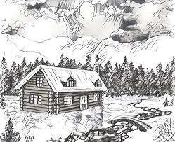 Chalet In The Snow More Coloring Pages