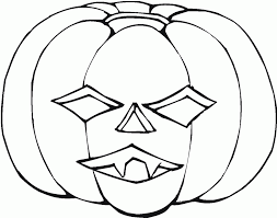 Awesome Collection Of Pumpkin Faces Coloring Pages With Reference