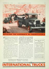 100 International Trucks Chicago 1931 Ad Construction Harvester Car YLD5