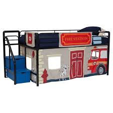 Fire Department Junior Loft With Blue Steps And Storage - Black ... Boysapos Fire Department Twin Metal Loft Bed With Slide Red For Bedroom Engine Toddler Step 2 Fireman Truck Bunk Beds Tent Best Of In A Bag Walmart Tanner 460026 Rescue Car By Coaster Full Size For Kids Double Deck Sale Paw Patrol Vehicle Play Curtain Pop Up Playhouse Bedbottom Portion Can Be Used As A Bunk Curtains High Sleeper Cabin And Bunks Kent Large Image Monster