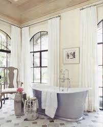 Small Bathroom Window Treatments by Interior Fitted White Sheer Curtain Shades With Plus Arched
