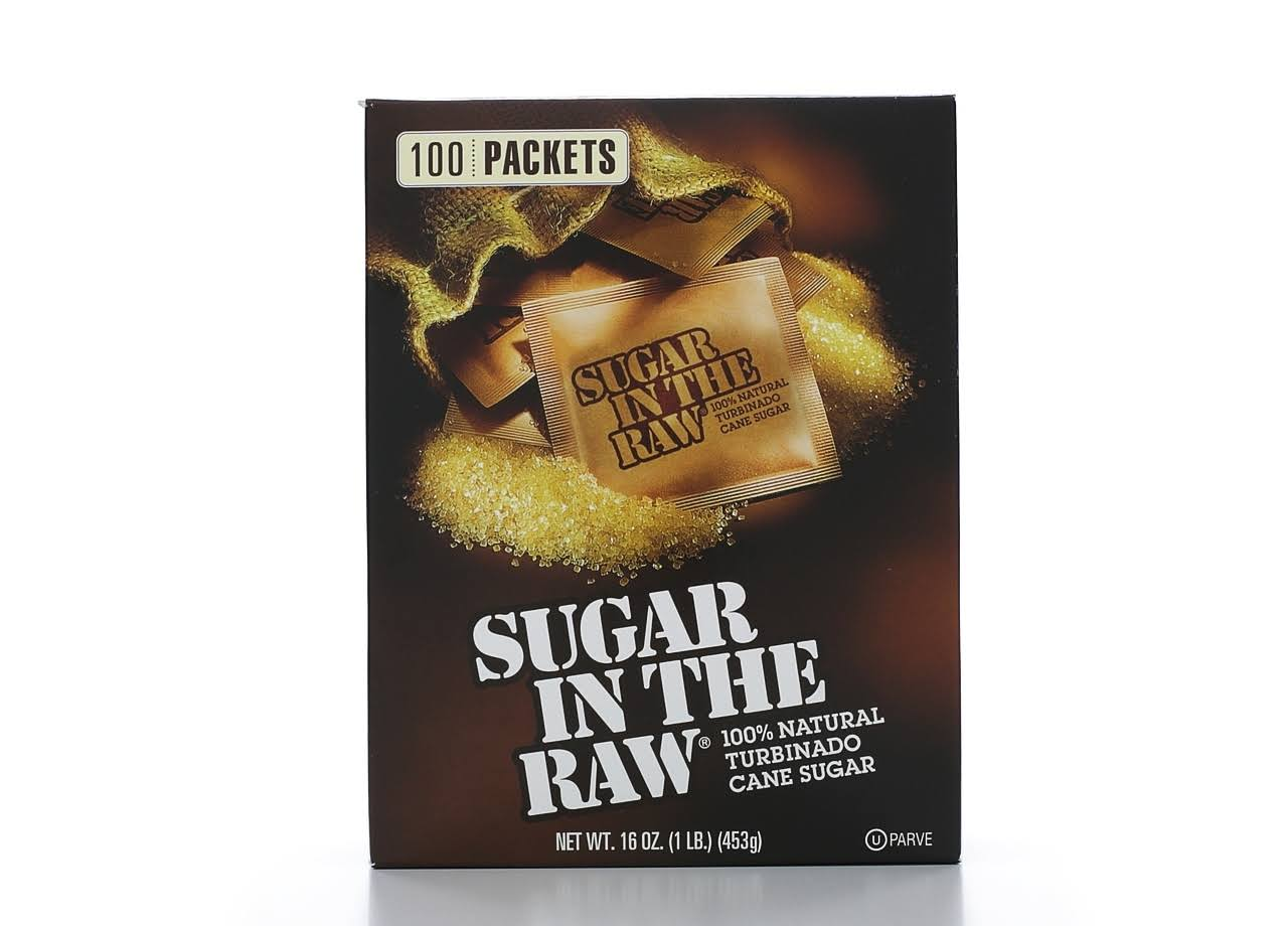 Sugar in the Raw Turbinado Cane Sugar - 16oz, 100ct