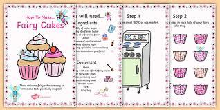 Fairy Cake Recipe Cards