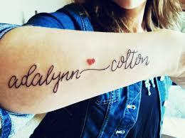 My Kids Names Tattoo I Freakin Love