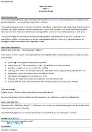 Objective Security Guard Resume Sample Example Ideas Coll Design Inspiration Property Officer