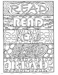Bookmarks To Color All With The READ Message Each Bookmark Has A