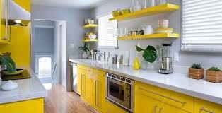 Yellow Kitchen Ideas Decorating Grey Kitchens Inspiration