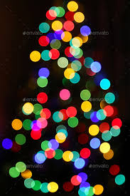 Unfocused Bright Lights Of Christmas Tree Stock Photo By Didesign