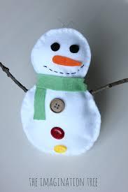 Stuffed Felt Snowman Craft For Kids