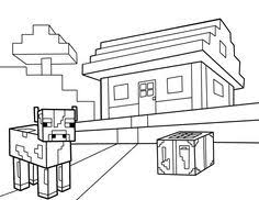 Minecrafts Colouring Pages