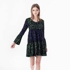 Jastie Babydoll Mini Dress Vintage Floral Print Dresses V Neck With
