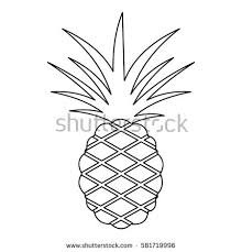 Pineapple Icon Outline Illustration Pineapple Vector Stock Vector