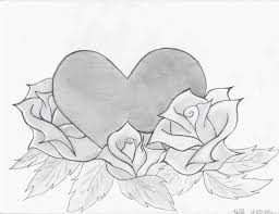 Rose Pencil In Color Love He Art Drawings Of Hearts And Roses