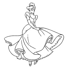 Princess Coloring Pages For Kids 17 Disney Printable Colouring In