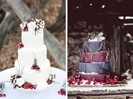 Rustic Christmas Wedding Cake Ideas