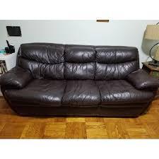 Bobs Furniture Leather Sofa And Loveseat by Bob U0027s Leather Dark Brown 3 Seater Sofa Aptdeco