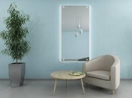 wandspiegel mit licht wohnzimmer gaia