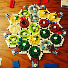 Lego Settlers Of Catan Board By BricksForSheep On Etsy