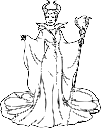 Maleficent Coloring Pages Inspirationa Disney Villains Download
