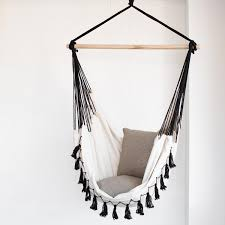 Living Accents Folding Hammock Chair by Hanging Hammock Chair With Macrame Solid Color Swing Chair