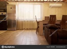 luxus vorhänge fenster modernes wohnzimmer mit küche und