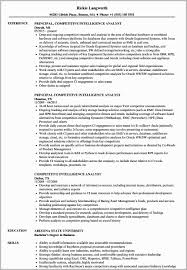 Intelligence Analyst Resume Examples Business