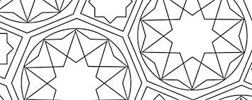 Islamic Coloring Pattern Free Printable