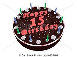 15th Birthday Cake Clipart