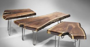 table live edge wood coffee table contemporary how to make a