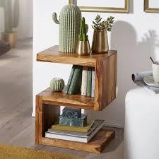 finebuy beistelltisch massivholz s cube 60cm hoch wohnzimmer tisch design landhaus stil couchtisch farbe wählbar