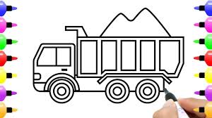 How To Draw Loaded Dump Truck Drawing And Coloring Pages For Kids ... How To Draw An F150 Ford Pickup Truck Step By Drawing Guide Dustbin Van Sketch Drawn Lorry Pencil And In Color Related Keywords Amp Suggestions Avec Of Trucks Cartoon To Draw Youtube At Getdrawingscom Free For Personal Use A Dump Pop Path The Images Collection Of Food Truck Drawing Sketch Pencil And Semi Aliceme A Cool Awesome Trailer Abstract Tracing Illustration 3d Stock 49 F1 Enthusiasts Forums