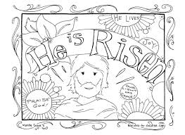 Christian Easter Coloring Pages He Is Risen