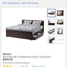 Brusali Bed Frame by Find More Brusali Bed Frame Ikea For Sale At Up To 90 Off