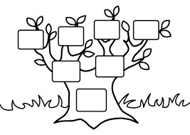 Draw Background Family Tree Coloring Pages Printable With Kids Az