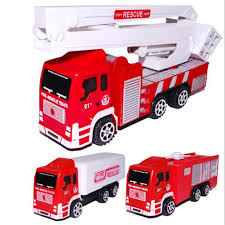 100 Fire Truck Kids Educational Toys 1 Pcs Model Toy Resilience Car Back