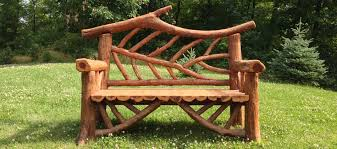 Outdoor Rustic Garden Furniture Woodland Structures Custom Inside Benches Prepare 15