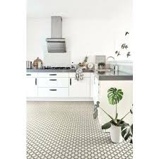 Vinyl Flooring Kitchen With Ceramic Tile Effect Cushion White Cabinets